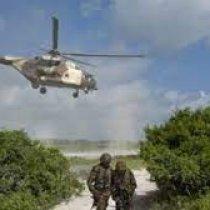 Diyaarado ku degay deegaanka Lambar60 kadib markii laweeraray kolonyo AMISOM ah.